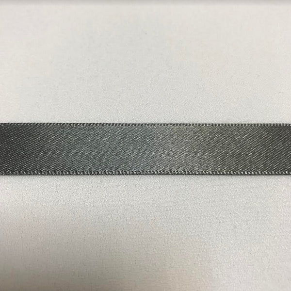 Satin Ribbon - Smoke Grey