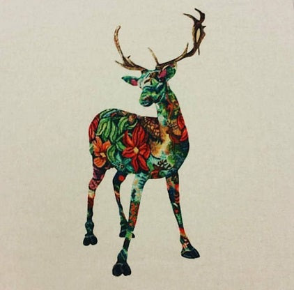 Highland Stag Cushion Panel