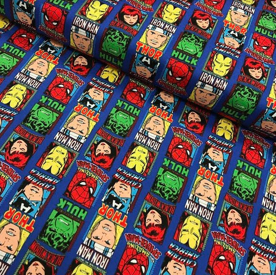 Marvel Superhero Printed Cotton