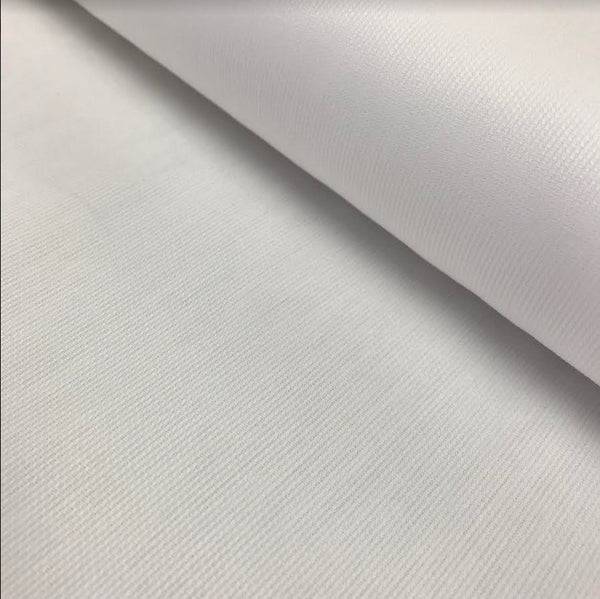 100% Cotton Pique Sienna - White