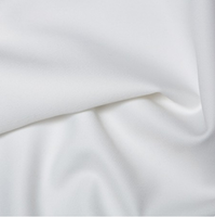 100% Polyester Twill - White