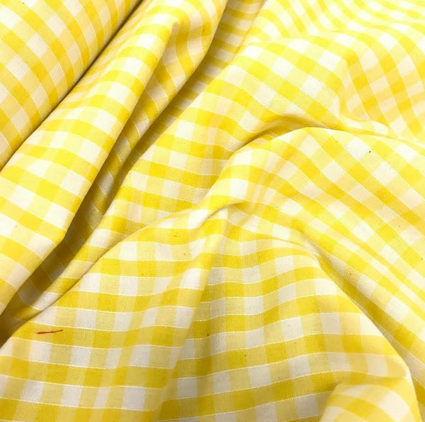 "1/4"" Gingham - Yellow"