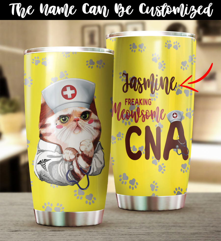 Nurse Cat Lovers Tumbler