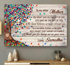 Personalized Customized From Daughter Son To Other Bonus Mother Mom Meaningful Quote Colorful Tree Vintage Poster