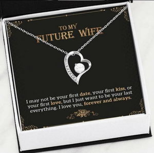 Heart Necklace For Future Wife Meaningful Quote Card For Her