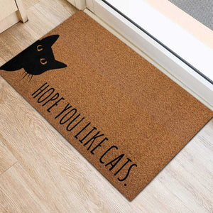 Hope You Like Cats Printed Doormat
