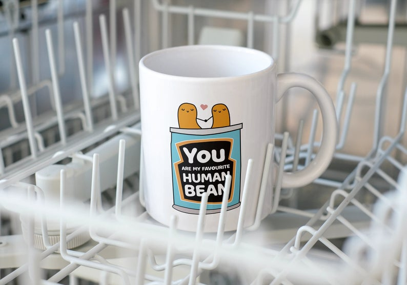 Customized You Are My Favourite Human Bean Mug Cute Funny Christmas Gift For Boyfriend Girlfriend Mug