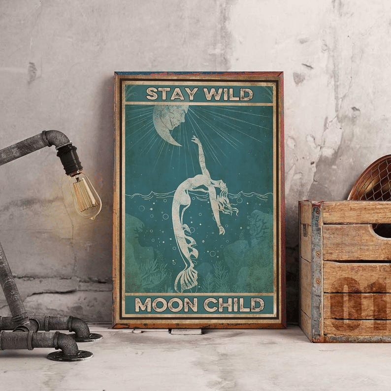 Stay Wild Moon Child Vintage Poster