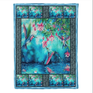 Hummingbird And Beaches Water Lovers Blanket