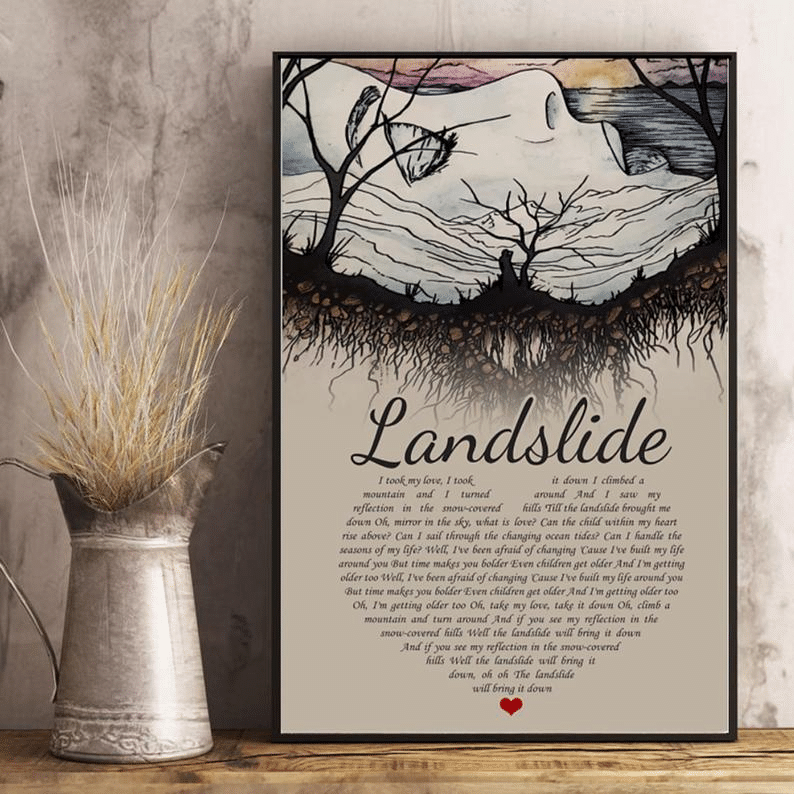 Landslide Heart Shaped Poem Poster