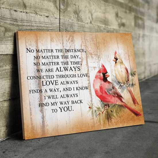 Cardinal Love Quote Wall Art Poster