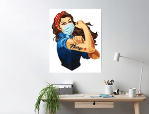 Nurse Strong Vintage Wall Art Decor Poster
