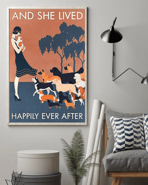 And She Lived Happily Ever After Funny Cute Dog Poster