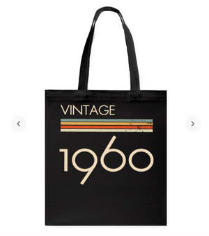 Trending Vintage Style 1960s Classic Tote Bag