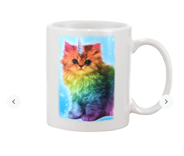 Rainbow Cute Unicat Mug