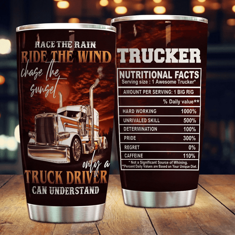 Trucker Nutrition Facts Tumbler