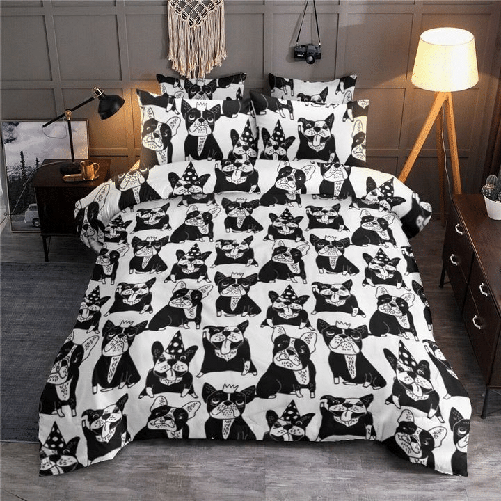 Boston Terrier Emotions Bedding Set