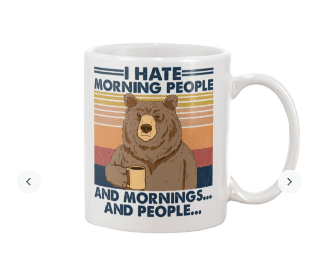 Camping I Hate Morning People Mug