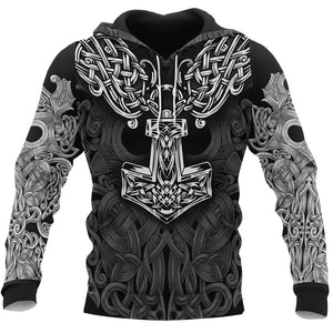 Viking Symbol Tattoo Full Printed 3D Hoodie