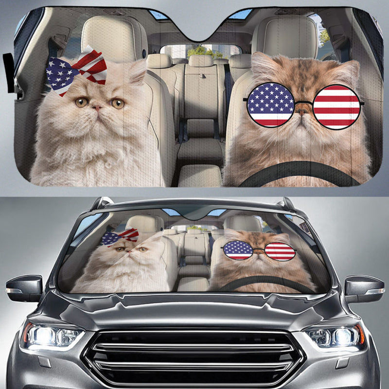 Cats In US Auto Sun Shade