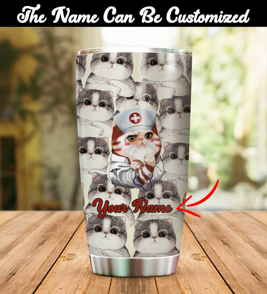 Customized Doctor Cats Tumbler