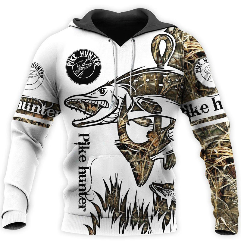 Pike Hunter Camoflage Full Printed 3D Hoodie