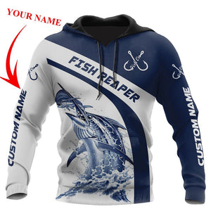 Personalized Customized Fishing Fish Reaper 3D Hoodie