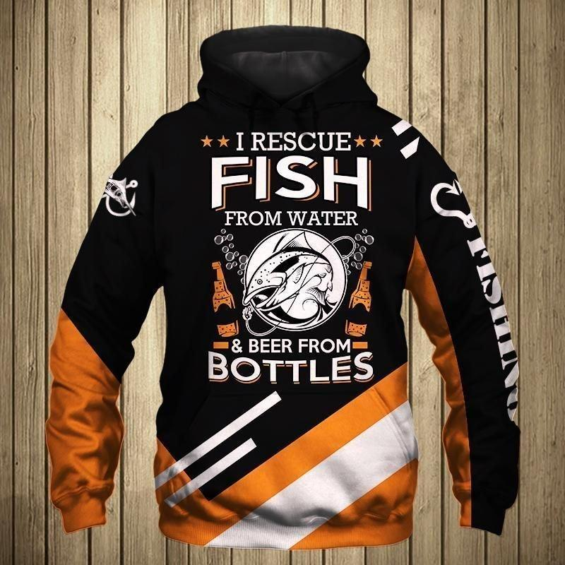 Love Fishing Drink Beer Full Printed 3D Hoodie