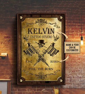 Personalized Customized Tattoo Studio Skull Royal Poster
