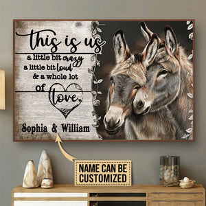 Personalized Customized Love Horse Couple Valentine Gift Meaningful Quote Poster