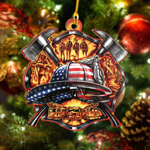 Firefighter US 3D Printed Christmas Ornament