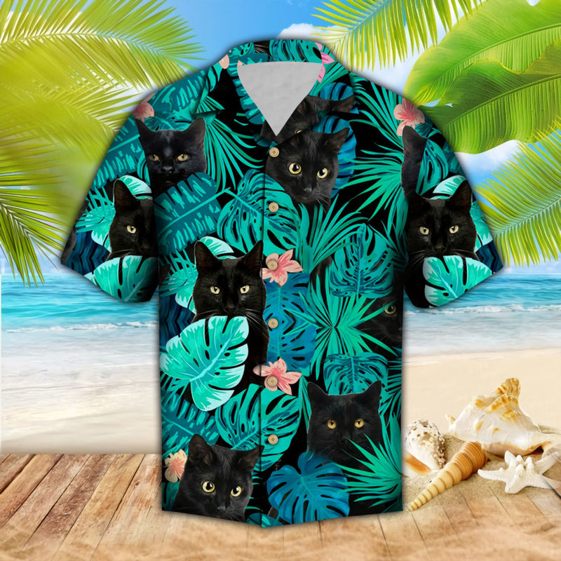 Black Cats Hawaii Shirt