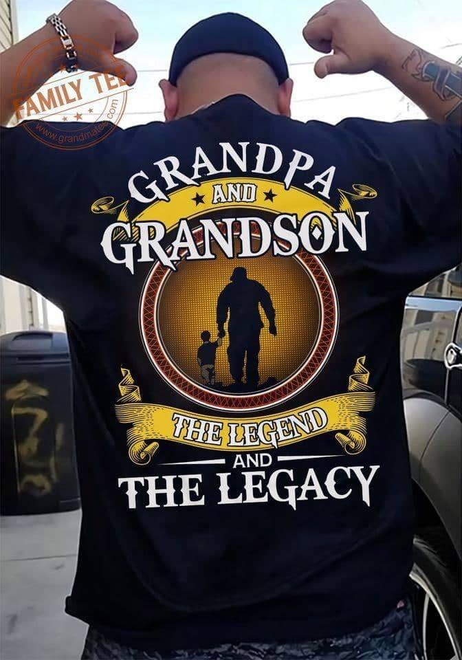Grandpa And Grandson Legend Shirt