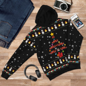 Firefighter Truck Ugly Christmas Printed 3D Hoodie