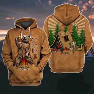 Bear Drink Beer Camping Lover 3D Hoodie For Men and Women