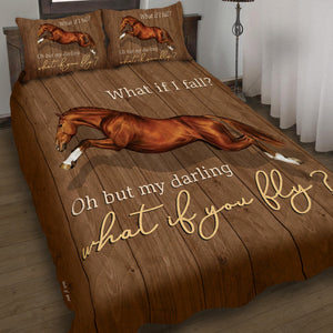 Love Horse Fly Meaningful Quote Gift Bedding Set