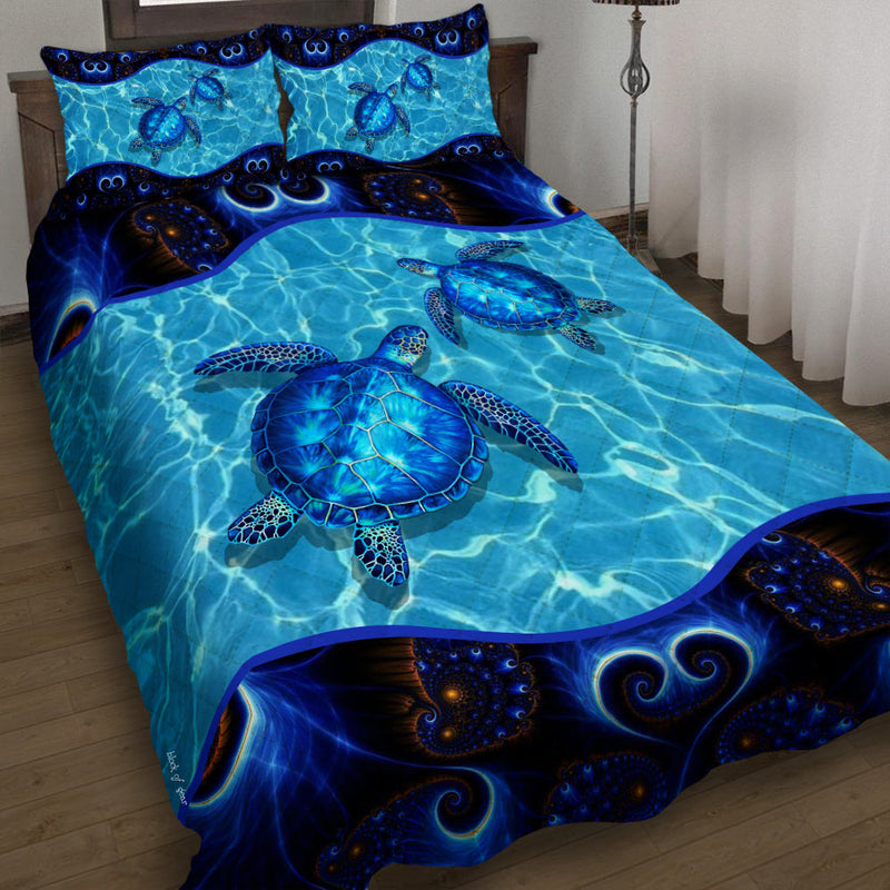 Love Green Sea Turtle Gift Bedding Set