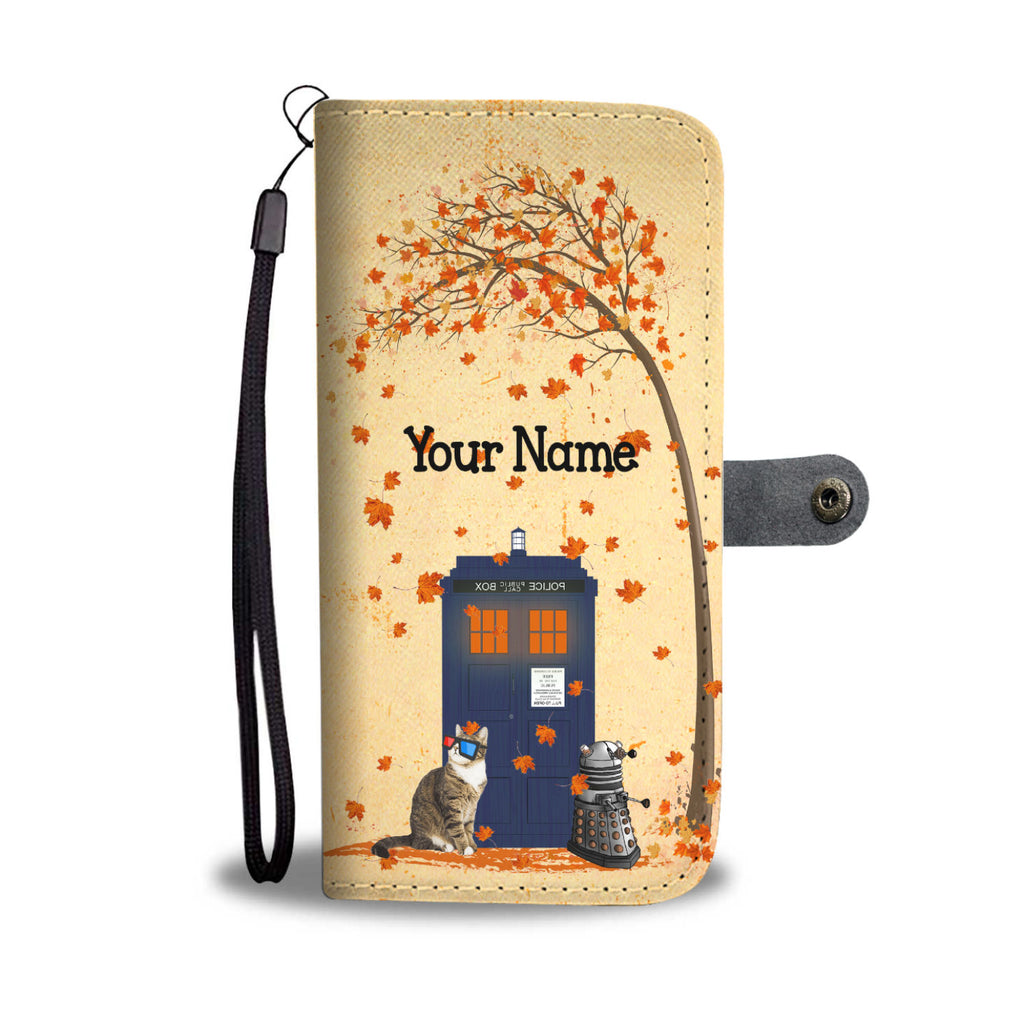 Customized Police Box Wallet Case