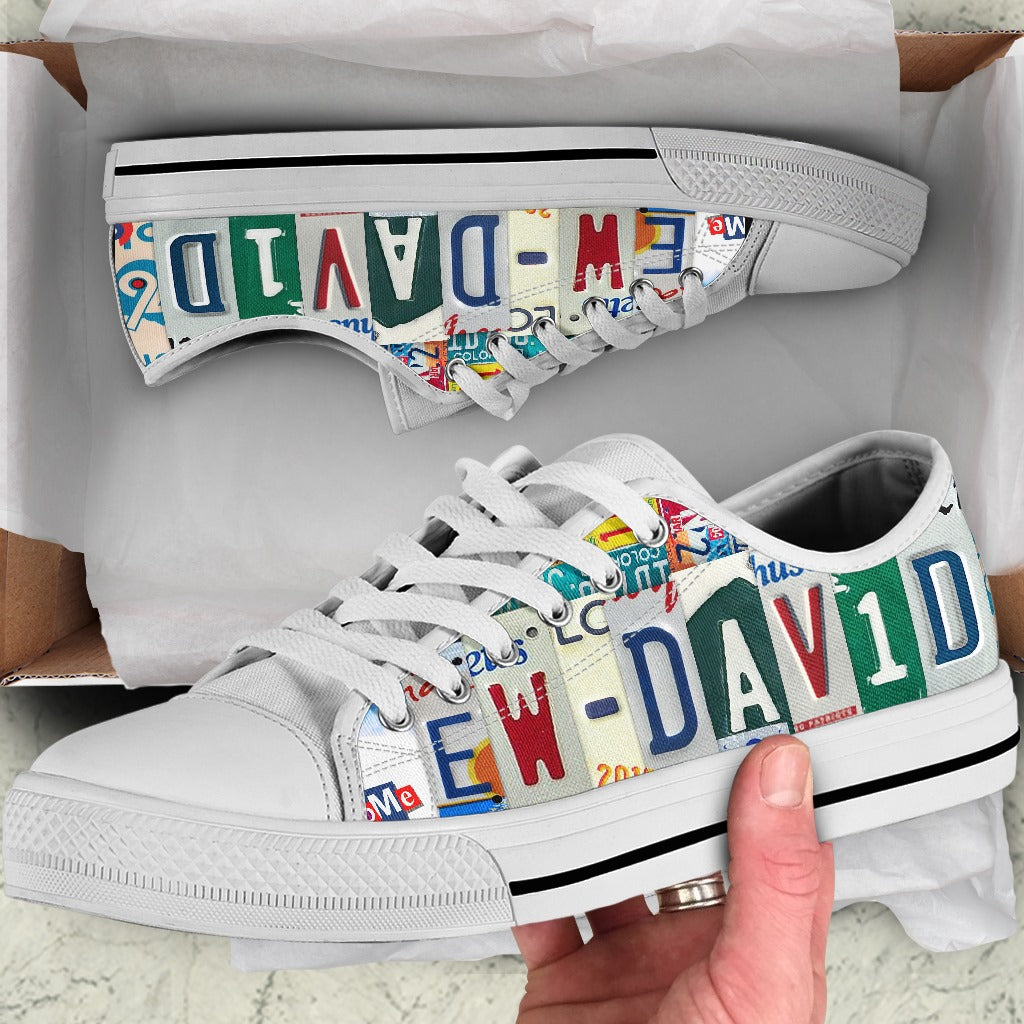 Ew David Vintage Letters Low Top Shoe