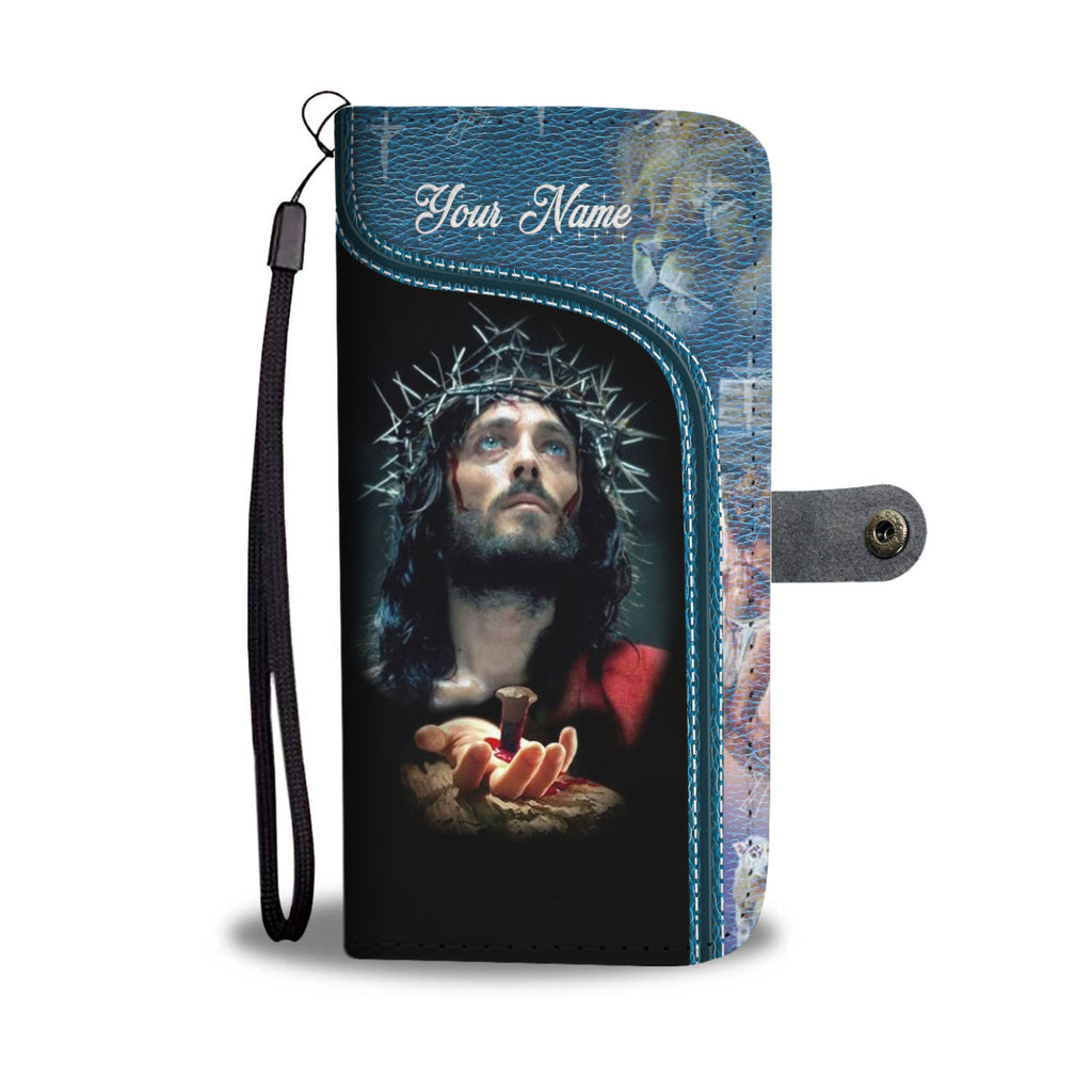 Customized Jesus Christ I Believe In God Wallet Phone Case