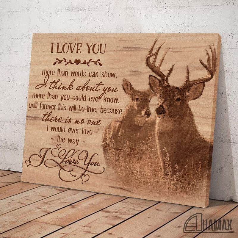 Deer Couple Art Valentine Gift For Lovers Poster