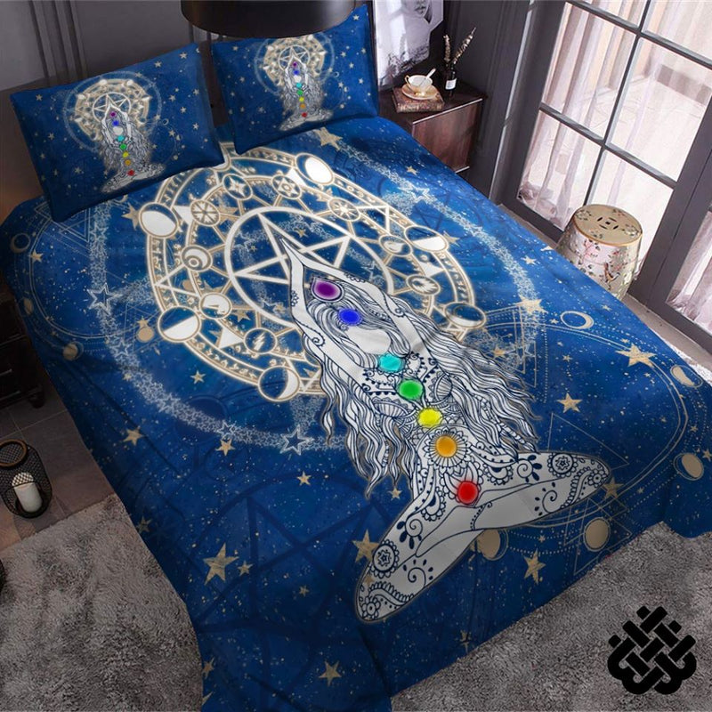 Wicca Witch Yoga Stone Gift Bedding Set