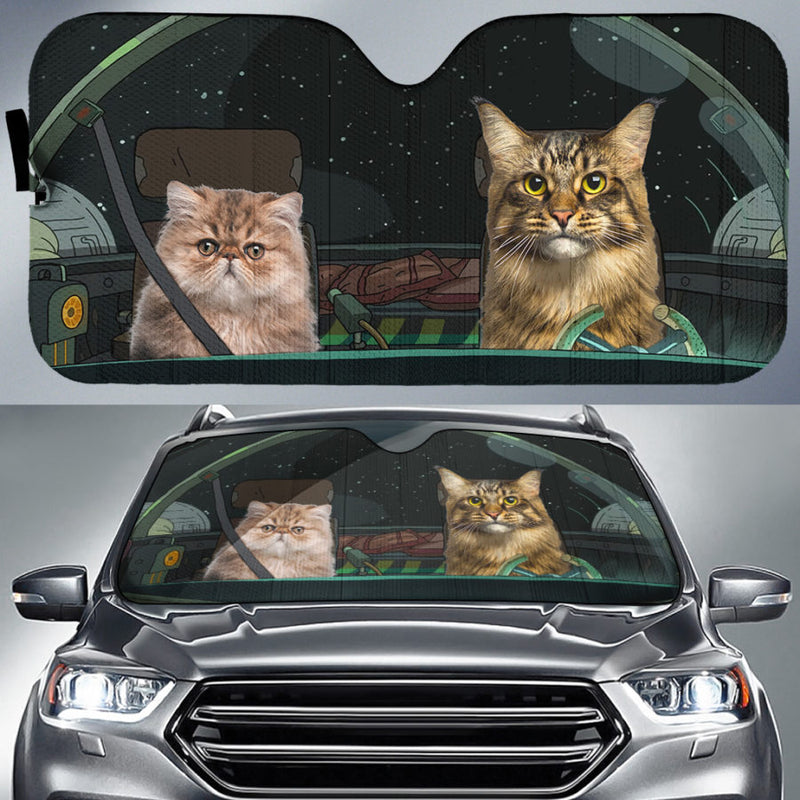 Cats In Space Auto Sun Shade