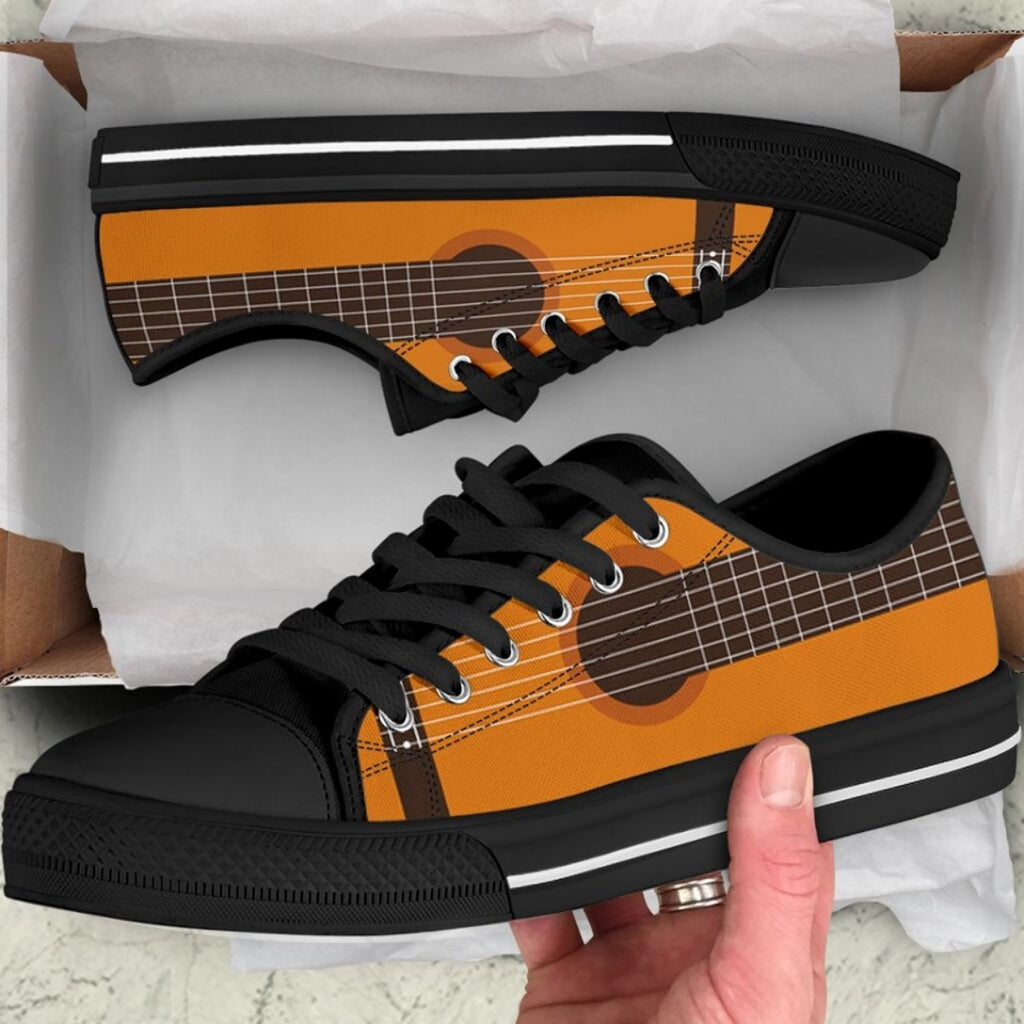 Guitar 3D Full Printed Low Top Shoe