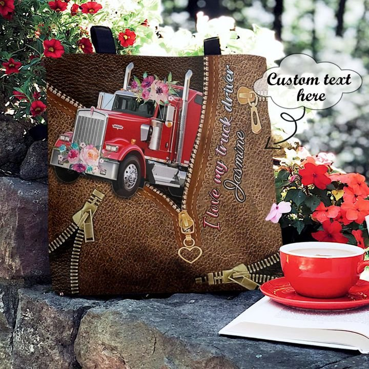 Personalized Customized Trucker Love Trucks Floral Vintage 3D Printed Leather Pattern Tote Bag