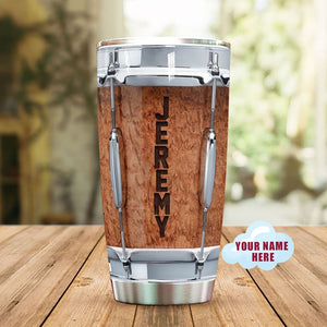 Personalized Customized Love Drums Drummer Tumbler