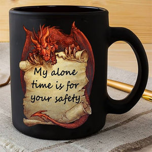 Love Dragon My Alone Time Is Your Safety Christmas Gift Mug