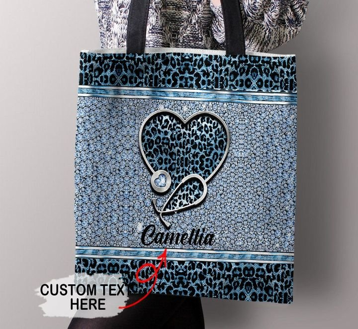 Customized Leopard Nurse Doctor Gift Tote Bag