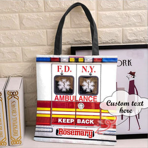 Personalized Customized EMS FDNY Tote Bag