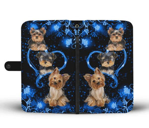 Love Yorkshire Dog Twinkle Heart Wallet Case